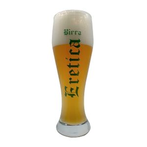 6 Bicchieri birra in vetro 50cl WEISS Weizenbecher