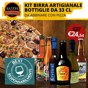 6 BIRRE ARTIGIANALI IN BOTTIGLIA 33 CL INDICATE CON ABBINAMENTO PIZZA