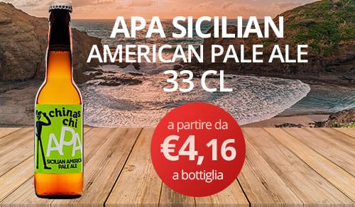 birra artigianale APA SICILIAN- AMERICAN PALE ALE-33 CL