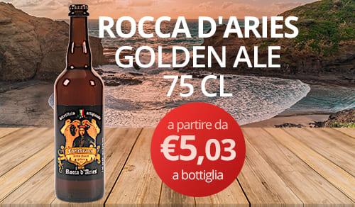 birra artigianale ROCCA D'ARIES-GOLDEN ALE 75 CL