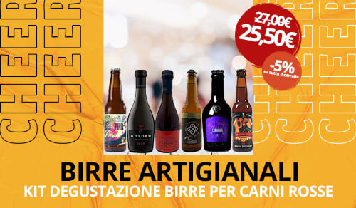 Birra Artigianale kit degustazione per carni rosse