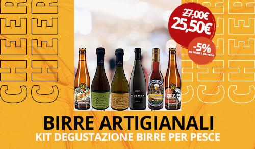 Birra Artigianale kit degustazione per pesce