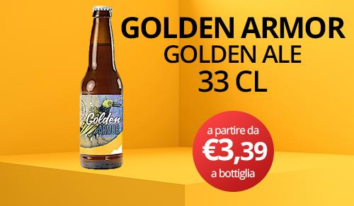 birra artigianale golden armor 33 CL