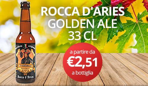 birra artigianale ROCCA D'ARIES-GOLDEN ALE 33 CL