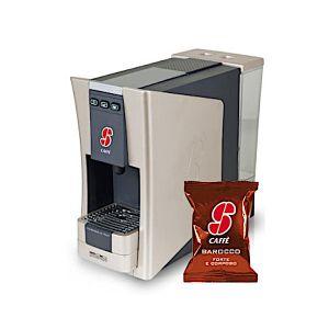 Macchina da caffè S.12 Essse Caffè più 100 capsule caffè miscela Barocco