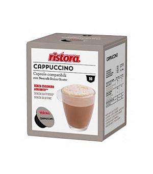 10 capsule Ristora Cappuccino decaffeinato senza lattosio compatibili Nescafe Dolce gusto