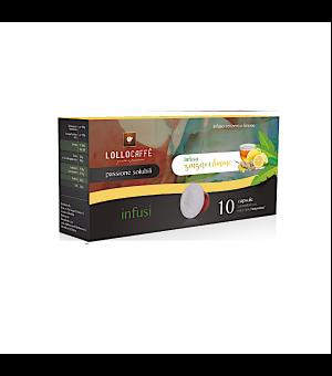 N10 Capsule Lollo al gusto Zenzero e Limone Compatibili Nespresso