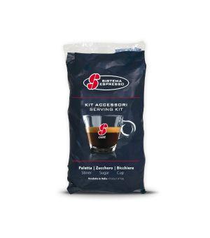 Kit Accessori Essse Caff Composto Da Bicchieri zucchero paletta