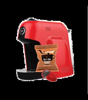 Macchina da caffè Bialetti Smart+100 capsule SAIDA Espresso Crema in vari colori