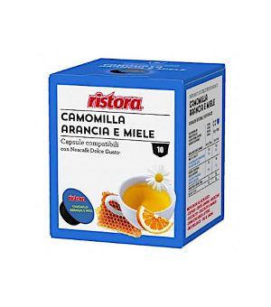 N 10 capsule camomilla arancia e miele compatibili Nescafe Dolce gusto