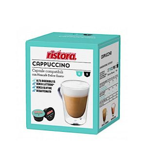 N 10 capsule cappuccino senza Lattosio compatibili Nescafe Dolce gusto Ristora