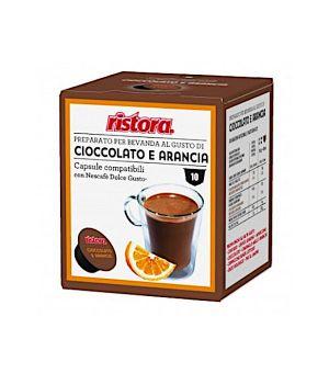 N 10 capsule cioccolato e arancia senza glutine compatibili Nescafe Dolce gusto