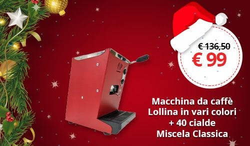 Macchina Caffè Lollina in vari colori + 40 cialde Miscela Classica