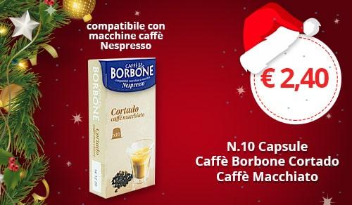 Capsule Borbone Cortado caffè macchiato compatibili con macchine Nespresso