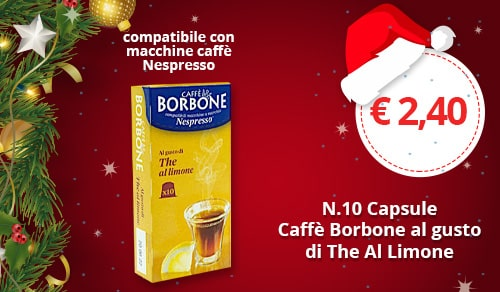 Capsule Borbone al gusto the al limone compatibili con macchine Nespresso