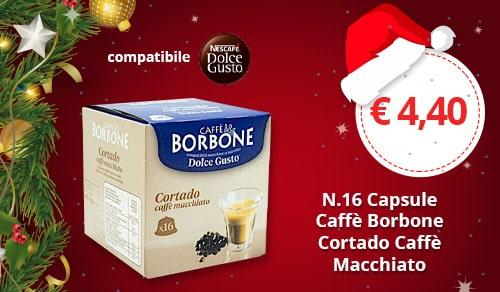 Capsule Borbone Cortado caffè macchiato compatibili Nescafè Dolce Gusto