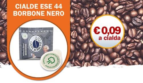 Cialde Filtro Carta ESE 44mm Borbone Nero