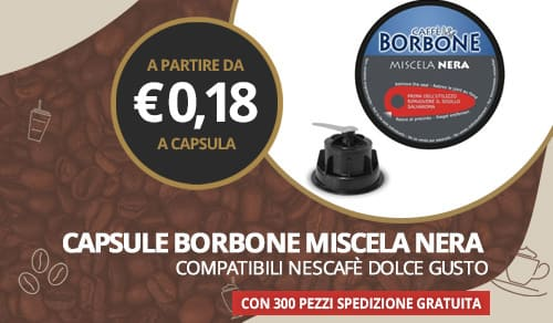 capsule borbone miscela nera compatibili dolce gusto