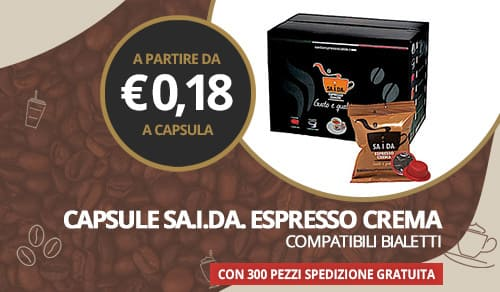 capsule caffè sa.i.da. miscela espresso crema compatibili bialetti