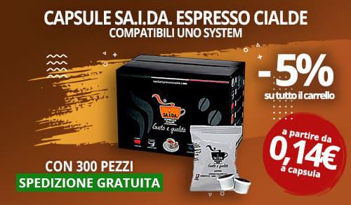 Capsule Caffè SA.I.DA. compatibili Uno System