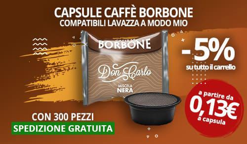 Capsule caffè Borbone compatibili con lavazza a modo mio