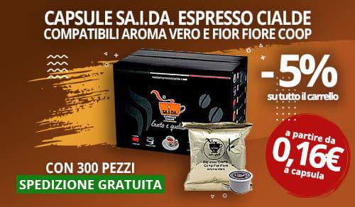 Capsule Caffè SA.I.DA. compatibili aroma vero e fior fiore coop