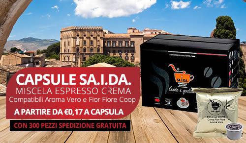 capsule SA.I.DA. Espresso Crema compatibili Aroma vero e fior fiore coop