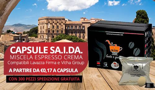 capsule SA.I.DA. Espresso Crema compatibili Lavazza firma e vitha group