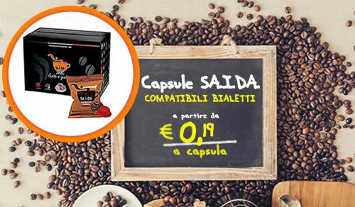 Capsule SAIDA espresso crema compatibili Bialetti