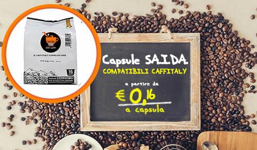 Capsule Caffitaly espresso car SAIDA compatibili Caffitaly