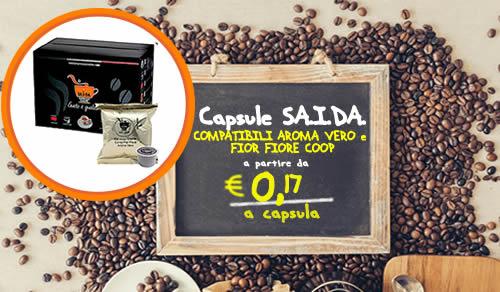 Capsule SAIDA aroma vero e fior fiore coop Espresso crema