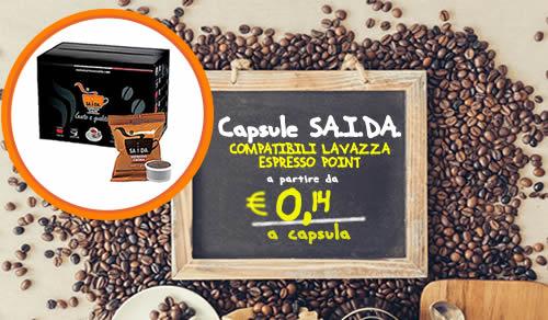 Capsule SAIDA compatibili Lavazza espresso point crema