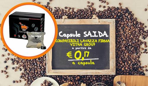 Capsule SAIDA compatibili Firma e Vitha Group crema