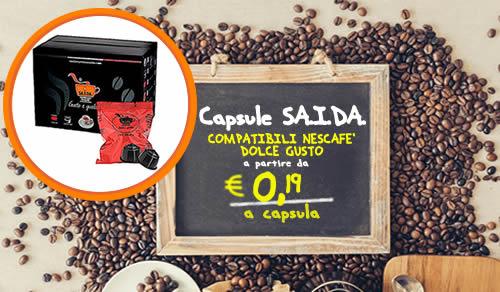 Capsule SAIDA il dolce gusto espresso crema compatibili Nescafe Dolce Gusto