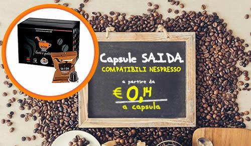 Capsule SAIDA espresso crema compatibili Nespresso
