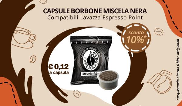 Capsule Borbone Miscela Nera compatibili Lavazza Espresso Point