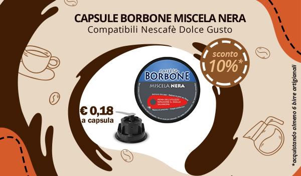 Capsule Borbone Nero compatibili Nescafe Dolce Gusto