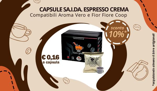 Capsule SA.I.DA. campatibili Aroma Vero e Fior-Fiore Coop Espresso Crema