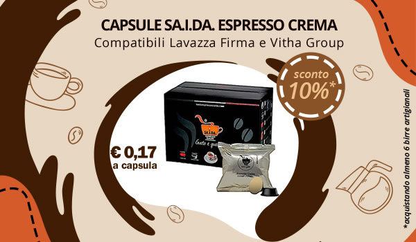 Capsule SA.I.DA. compatibili Lavazza Firma e Vitha Group Crema