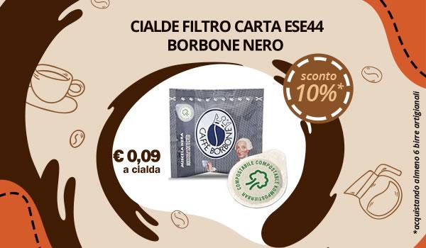 Cialde Filtro Carta ESE44 Borbone Nero